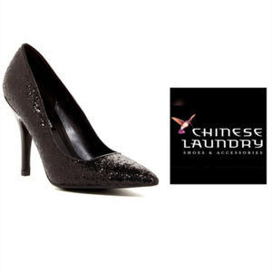 Chinese Laundry Black Glitter Pumps Sz 9 NIB